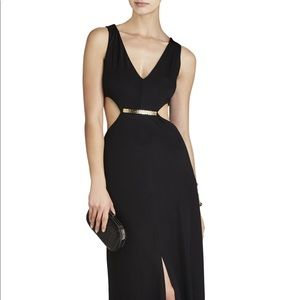 BCBG cut out black gown dress (used once)